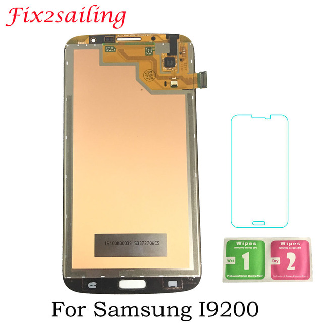 Super Amoled LCD Display For Samsung Galaxy Mega 6.3 i9200 i9205 LCD Display Touch Screen Frame Replacement Parts Free Shipping