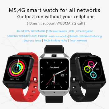 TOP WATCH 2018 Fashion M5 Smart Watch Support 4G network and voice call WI-FI GPS navigation 5M Pixel Heart rate monitor