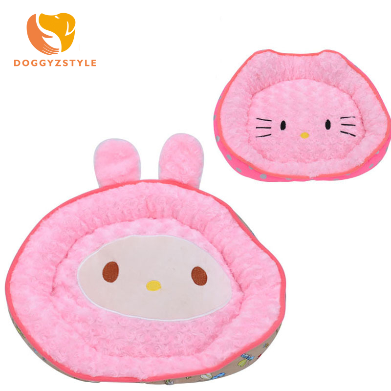 2 Style Cute Cartoon Pet Cat Dog Bed Mat Warm Soft Fleece Kennel For Small Puppy Dogs Cats Kitty Washable Pet Houses DOGGYZSTYLE