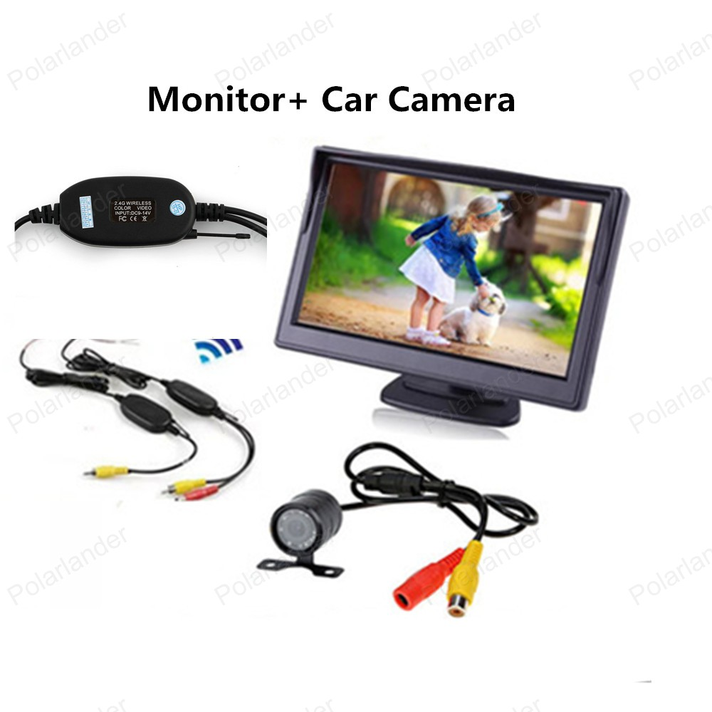 4.3 Inch TFT LCD Color Display Pocket-sized Rear View Monitor with 2-channel Video Input 480x234 Rear View Monitor