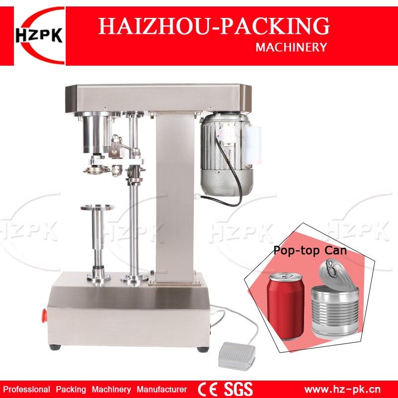 HZPK Semi-automáticas de folha de Flandres Pode Máquina Da Selagem do Anel-pull Pode Tampando Seamer Pop-top Tampa de Alumínio Garrafa Fácil fechamento