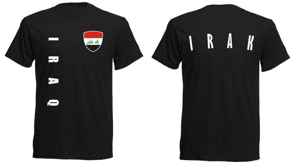 Summer 2019 100% Cotton Printed Pure Cotton Men Irak Iraq T-Shirt Men'S Footballer Legend Soccers T-Shirt Designs