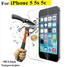 Premium 9H 0 26mm 2 5D Arc Edge Tempered Glass Screen Protector for iPhone 5 5s