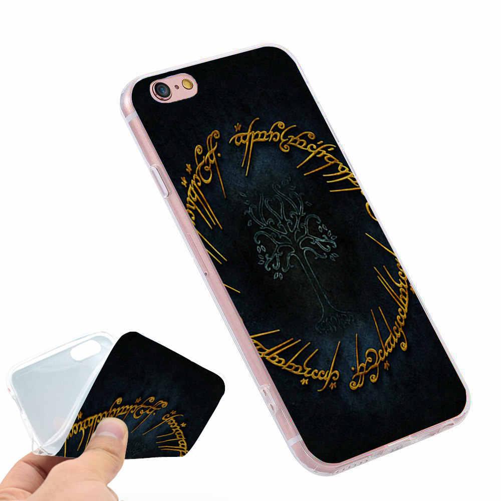 Władca pierścieni miękki silikonowy pokrowiec na iPhone X 5 S 5S XR XS Max 6 6 S 7 8 Plus pokrowiec na telefon Fundas Capinha de Celular