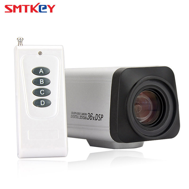 Uzaktan kumanda Analog 1200TVL CMOS Otomatik Odaklama 36X Kutusu Zoom güvenlik kamerası