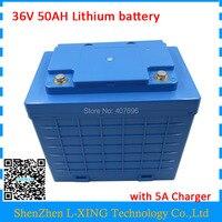 ЕС США нет налога батарея 36 В в 50AH литиевый аккумулятор высокой емкости 50AH 36 В в с водостойким чехлом использовать 26650 ячеек 50A BMS 5A зарядное у