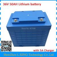 EU US No Tax Battery 36V 50AH Lithium Battery Pack High Capacity 50AH 36V With Waterproof