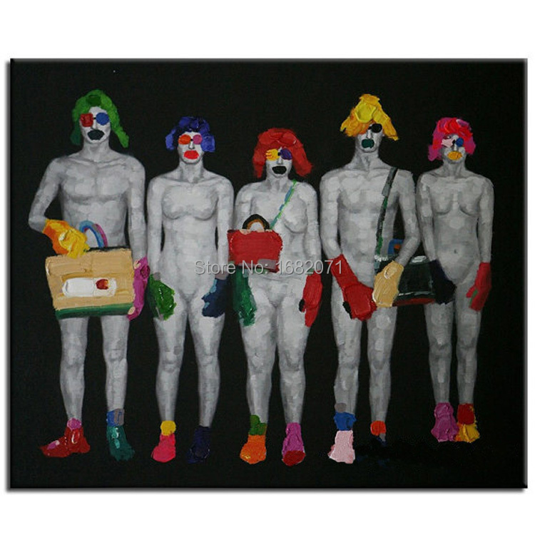 Wholesale High Quality Handmade Unique Nude Portrait Oil Painting On Canvas Abstract Different Country Man And Woman Nude Body