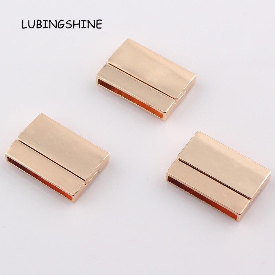 Hot Sale Diy Bracelet Magnetic Clasps Leather Bracelet Clasp Knots Flat  Hole 25*25mm