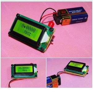 Image 2 - 높은 정확도 1MHz ~ 500MHz 주파수 카운터 테스터 측정 디지털 0802 lcd 디스플레이 + 햄 라디오 앰프 용 안테나
