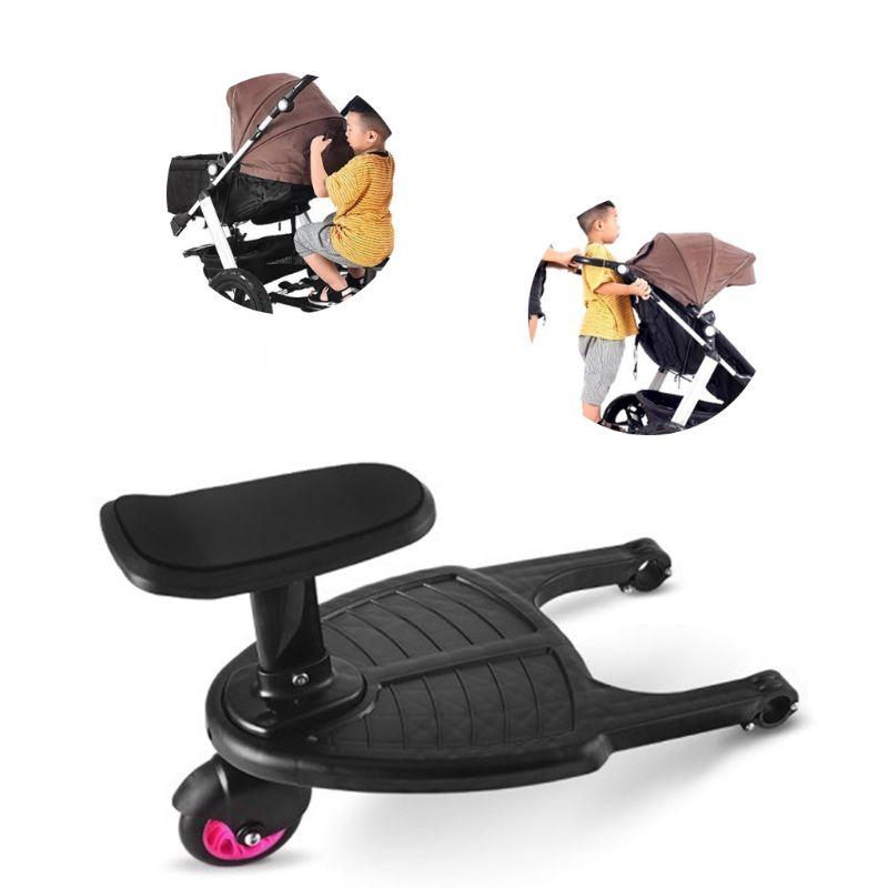 Poussette Auxiliaire Pédale Deuxième Enfant Artefact Remorque Jumeaux voiturette de bébé Deux Enfants Debout Plaque Assis poussette Accesso
