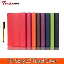 Деловой, модный и повседневный чехол для sony z3, Магнитный смарт-чехол из искусственной кожи, чехол для sony Xperia Z3 Compact, чехол для планшета, чехол s