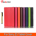 Бизнес & Мода & Casual Для sony z3 case Магнитные Смарт кожа PU Case обложка Для Sony Xperia Z3 Compact tablet крышка случая