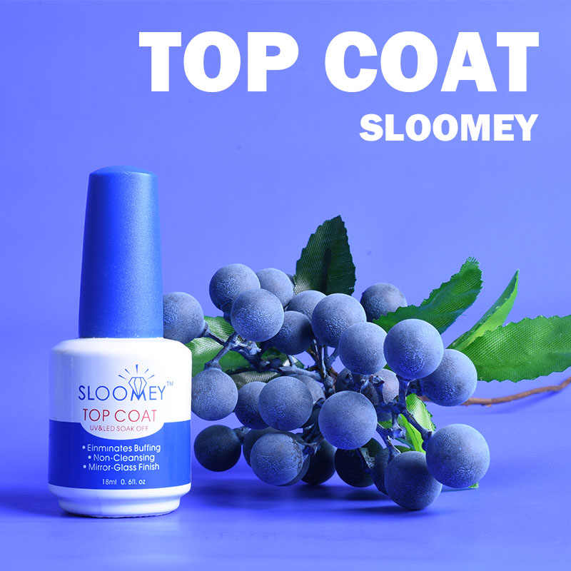 SLOOMEY 18ml Top Coat UV Gel Nail Polish Professional Mirror Soak Off UV LED Gel Nail Polish Matte No-Wipe Top Coat Nail Gel