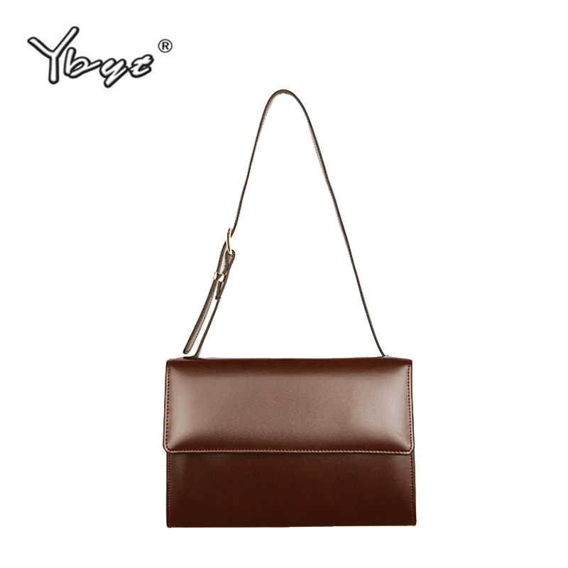 YBYT brand 2018 new vintage casual shoulder messenger crossbody bags joker leisure fashion simple women leather handbags