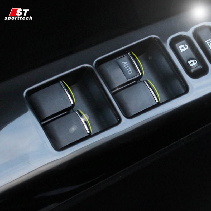 Interior All New Camry 2016 Kijang Innova Car Styling Window Button Sticker For Toyota Rav4 Reiz ...