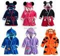 SY017 Frete grátis nova chegada crianças dos desenhos animados pijamas menina dos desenhos animados meninos Robe roupa dos miúdos macios varejo