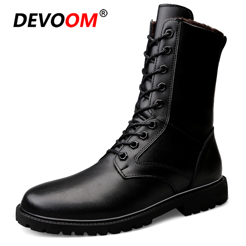 High Tube Leather Antiskid Military Combat Tactical Boots Soldier Army Boots Outdoor Training Climbing Desert Valentine