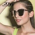 Marca Polarizadas Clásicas gafas de Sol de Diseñador Mujeres de Lujo Espejo Cuadrado Hembra Gafas de Sol de Las Señoras Vintage Oculos feminino 7024
