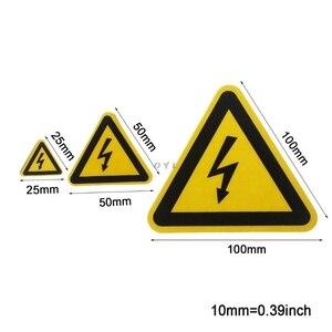 Image 4 - Etiquetas adhesivas de advertencia, aviso de peligro de choque eléctrico, seguridad, 25mm, 50mm, 100cm, PVC, resistente al agua