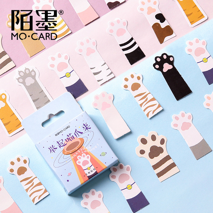 45pcs/1pack Kawaii Cats Pigs Travel Diary Planner Decorative Stickers Adhesive Stickers Scrapbooking Craft Stationery Stickers