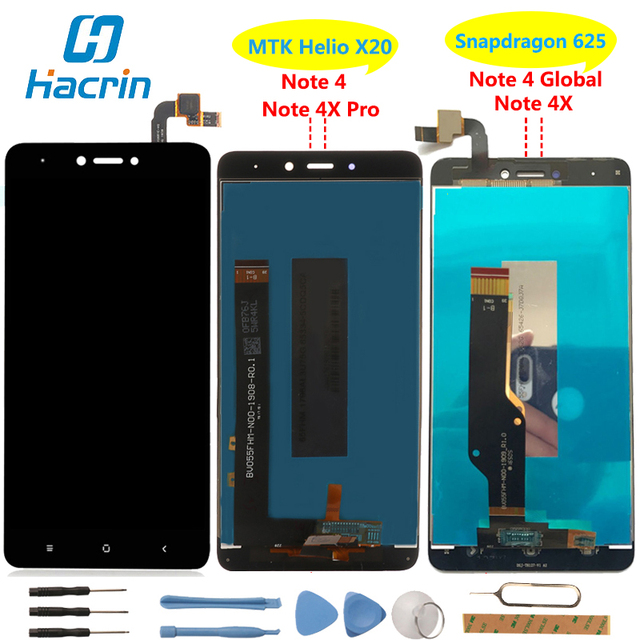 Xiaomi Redmi Note 4X LCD Display +Touch Screen 100% New Digitizer Glass Panel For Xiaomi Redmi Note 4/4 Pro Global Version