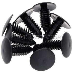 Image 5 - Clips de fixation en Nylon pour voiture, 50 pièces/lot, Clips en plastique pour pare choc, pour pare choc, Rivet en plastique, pour Ford Chrysler, Automobile