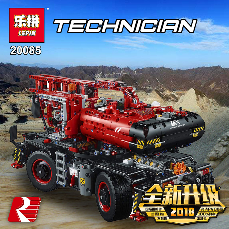 Lepin-20085-Compatible-Legoing-42082-Technic-Series-Rough-Terrain-Crane-Building-Blocks-Bricks-Educational-With-Battery (1)