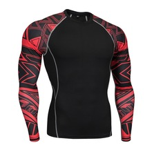 Men Running Shirt Sport T-Shirt Gym Shirt Long Sleeve Compression Tight Top Fitness Bodybuilding T-shirt Rashgard new quick dry running shirt men bodybuilding sport t shirt long sleeve compression top gym t shirt men fitness tight rashgard