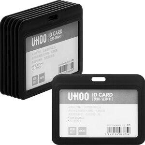 Image 3 - 12pcs/lot UHOO 6633 6634 Quality Name Badge Holder ID Card Cover Identity Card Holder Badges with Neck Lanyard wholesale