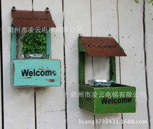 American country garden home small decorative wood wall flower wall hangings ZAKKA
