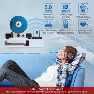 Image 5 - 262ft/80mLong menzilli NFC Bluetooth 5.0 verici alıcı müzik ses adaptörü APTX HD düşük gecikme Spdif RCA 3.5mm AUX TV PC için