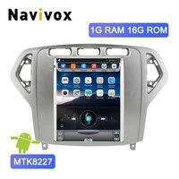 Navivox 10.4 Vertical Screen 2 Din Android Car Radio For Ford Mondeo MK4 2007 2011 Car DVD GPS Multimedia Video Navigation