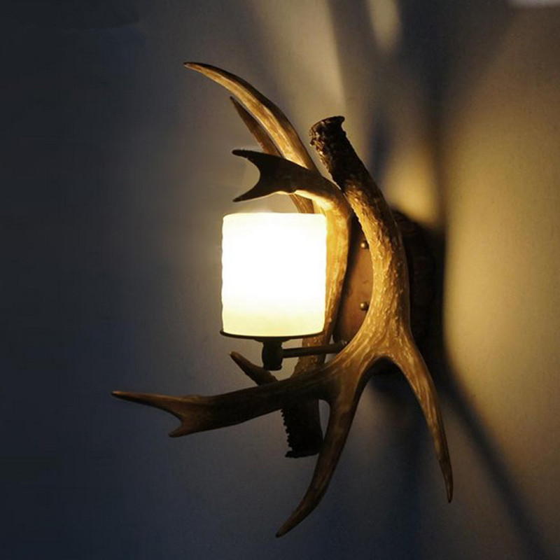 antler sconce wall diagonal up lights lamp decor candle sconces light