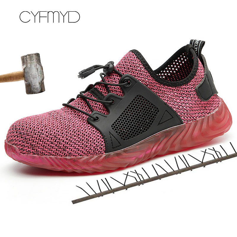 Men 39 s Sneakers Summer Wedges Plus Size 45 48 Flyknit Hard Wearing Casual Safety Shoes Man Rubber Lace Up Zapatillas in Men 39 s Casual Shoes from Shoes