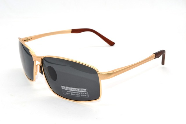 =CLARA VIDA Polarized Reading Sunglasses= Gold Al Mg Alloy Shield Mens Polarized Sunglasses Oversized Vintage +1.0 +1.5 +2 To +4