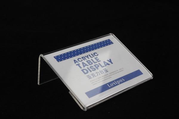 110x85 2mm de espessura de acrilico clipe sinal l quadro bolo etiqueta de cartao de preco