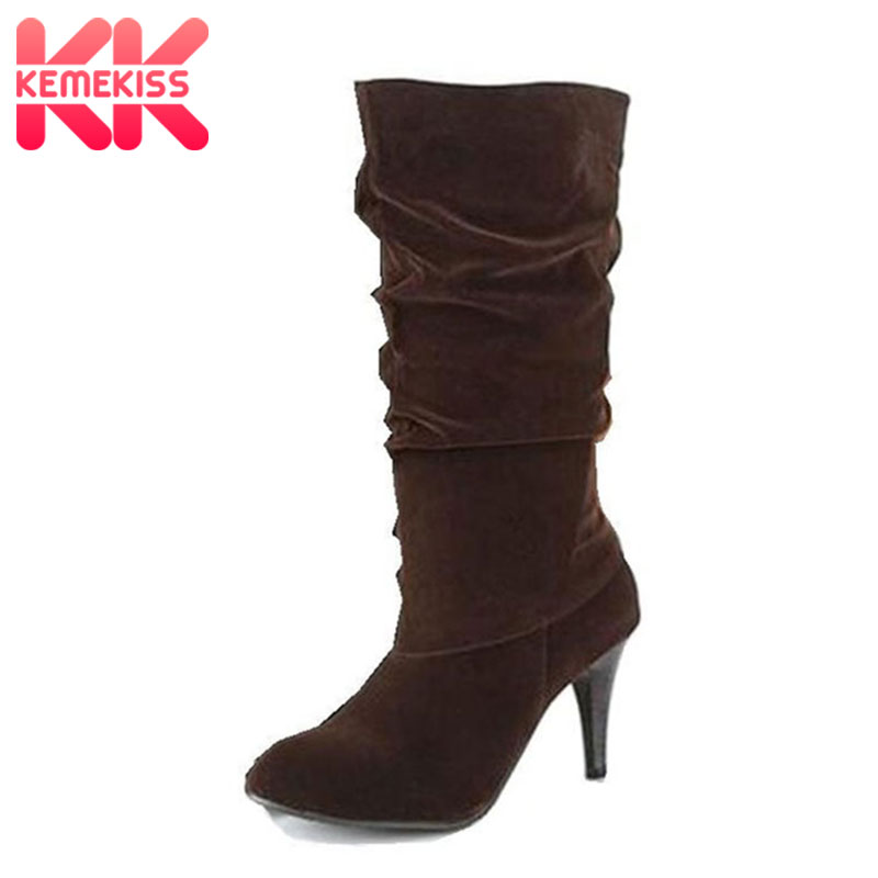 Free shipping knee boots women fashion snow winter footwear high heel shoes sexy warm half boot P7892 EUR size 34-45 free shipping over knee long high heel boots women snow fashion winter warm footwear shoes boot p15455 eur size 34 39