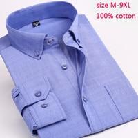 new arrival fashion Print Men Long Sleeve Spring Extra Large 100%Cotton Printed Casual Dress Shirts plus size MLXL2XL 8XL 9XL