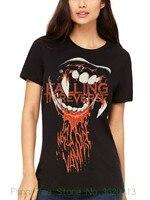 Damska Koszulka Oficjalna wchodzących W Odwrotnej Vampire Mujeres S T-Camiseta Roca Banda Fan Drukuj Kobiety Streetwear T koszula