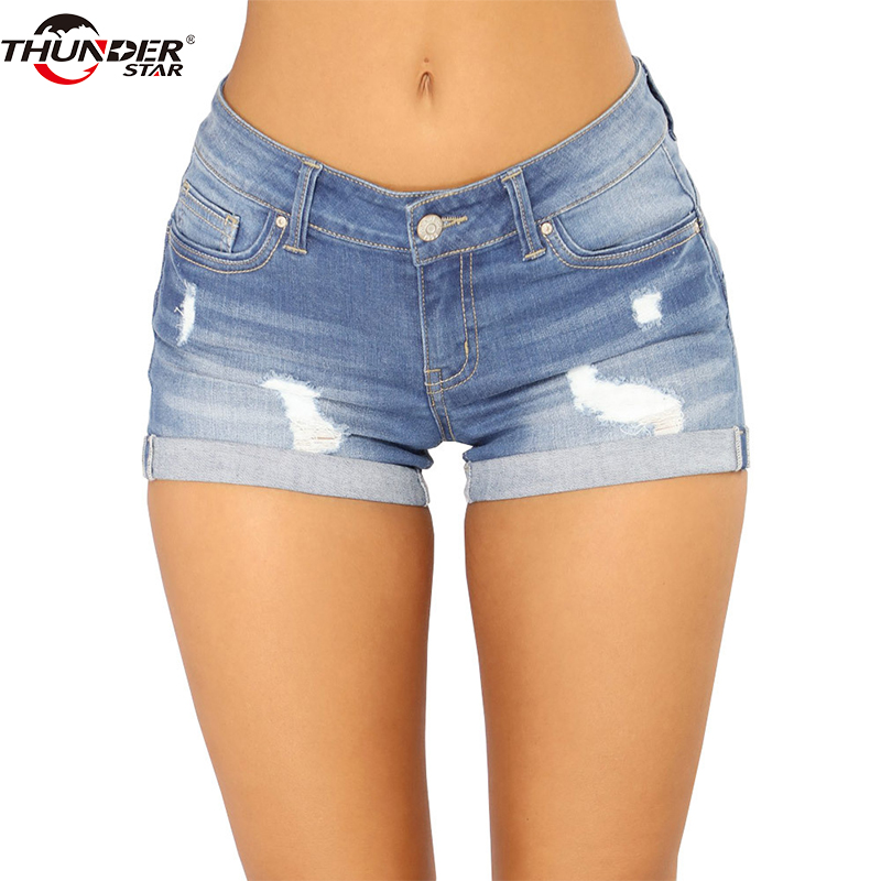 Ripped Pockets Women   Shorts   2018 Summer Casual Cut off Distressed Vintage Hot   Shorts   Denim For Women