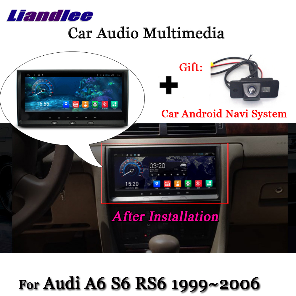 Liandlee For Audi A6 S6 RS6 1999~2006 Android System Radio Stereo Carplay Camera BT TV GPS Map Navi Navigation Screen Multimedia liandlee car android system for toyota ipsum picnic 2001 2009 radio stereo camera bt gps navi map navigation screen multimedia