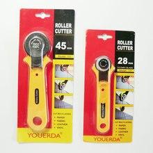 Neue Patchwork Zubehör Costura Cortador Rund Rotierende Cutter Tuch Schneiden Schere Leder Stoff DIY Werkzeug Nähzubehör