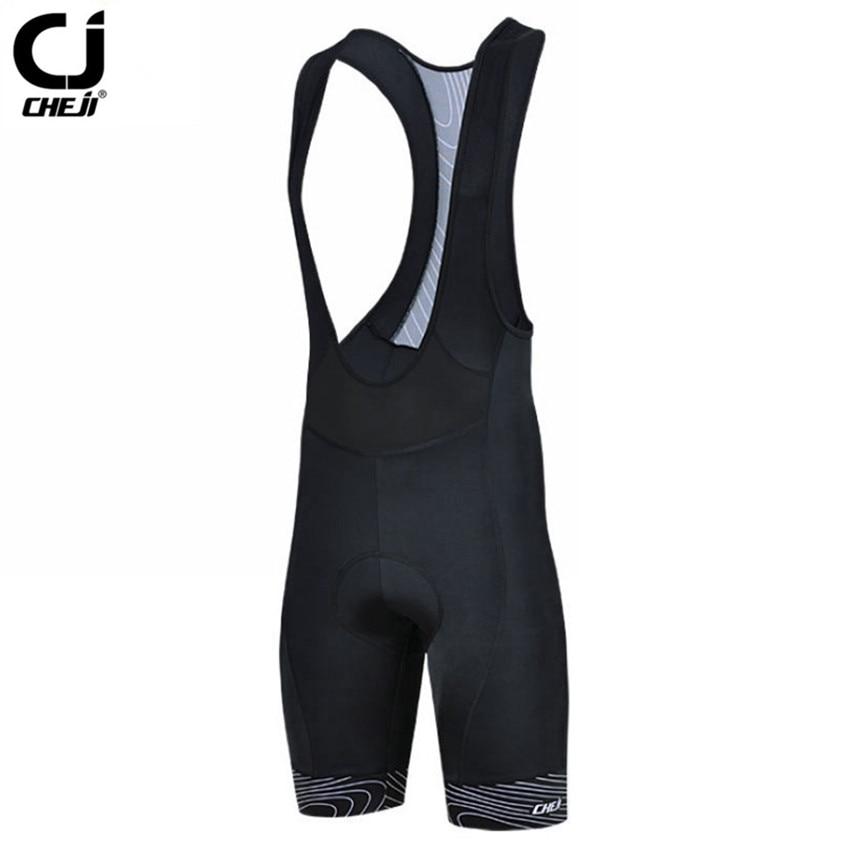 2019 CHEJI Men Summer 사이클링 Bib Shorts 3D 젤 Padded MTB Pro Team 숨 자전거 Shorts Black Bike Bib Pad Shorts S-3XL