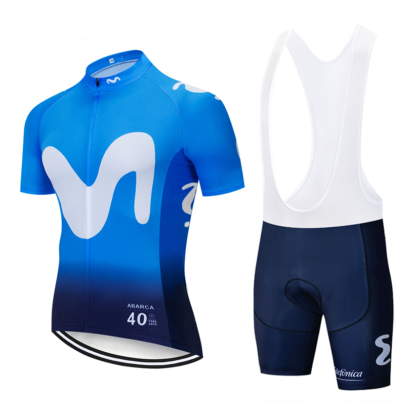 6 Colors 2019 MOVISTAR Cycling TEAM Jersey 20D Bike Shorts Ropa Ciclismo MENS Summer Quick Dry Pro BICYCLING Maillot Bottom Wear