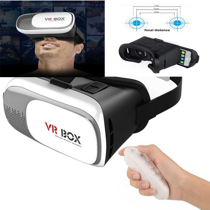Tv, Video & Audio 3d Vr Brille Virtual Reality Box Universal Bluetooth Für Android Iphone Samsung