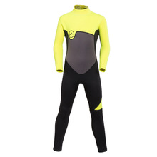 Children Plus Size Diving Wetsuit Boy Girl Keep Warm 2mm Neoprene One Piece Full Suit Stitching Jumpsuit Surfing Suit Blue Pink(China)