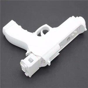 Image 5 - 2 x pistola de luz para disparar, videojuegos deportivos, una mano, controlador de arma para juegos de controlador de accesorios remotos Nintend Wii