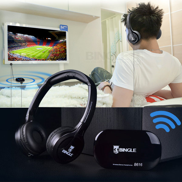 2016 Best Original Bingle B616 Multifunction stereo Wireless with Microphone FM Radio for MP3 PC TV Audio Headset Headphones