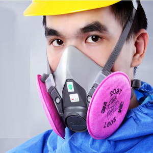 Image 2 - 11 ב 1 3M 6200 7502 ריסוס Respirator גז מסכת עם 3M 2097 גז מסכת תעשיית מסנן עבודה בטיחות אבק מסכה